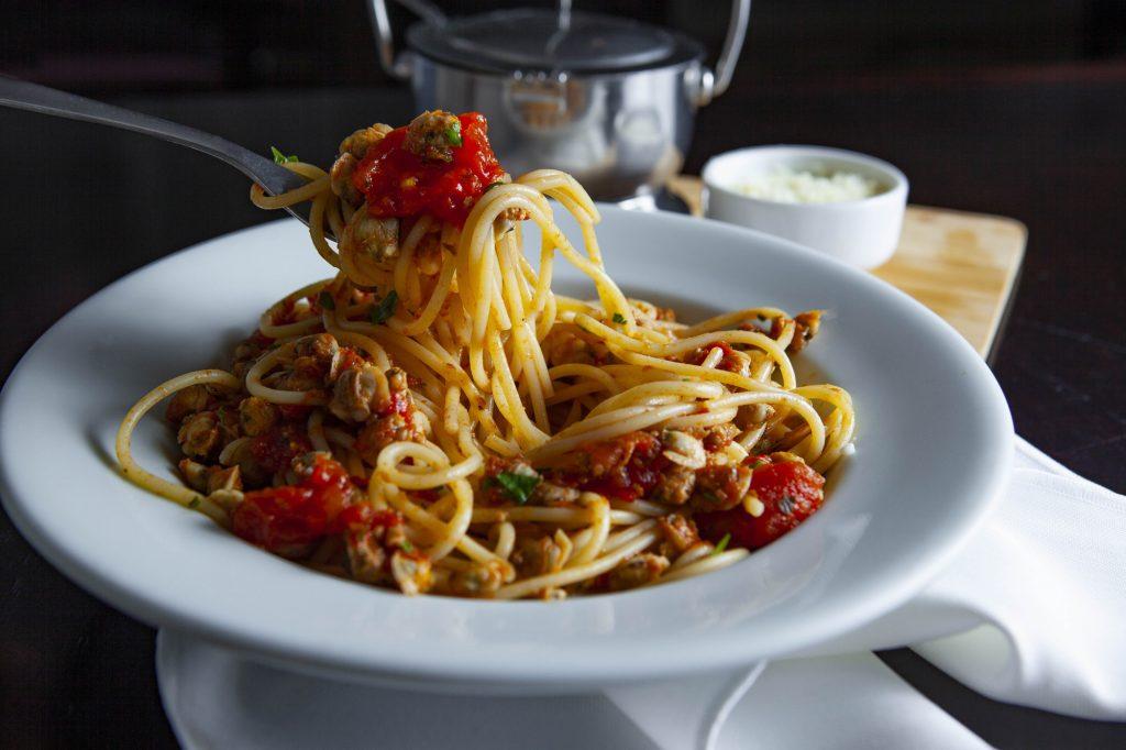 Spaguetti com vongole do Bucatini