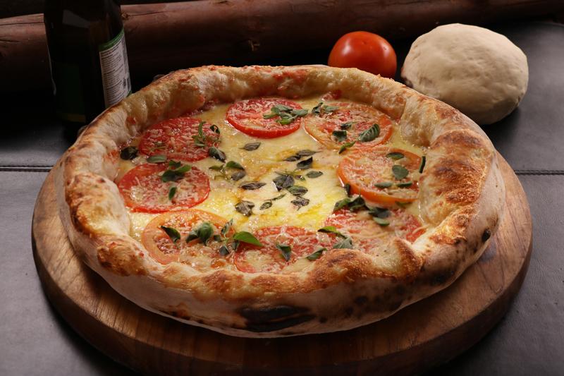 Pizza marguerita da St Etienne, disponível para delivery